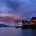 Last light at Eilean Donan Castle