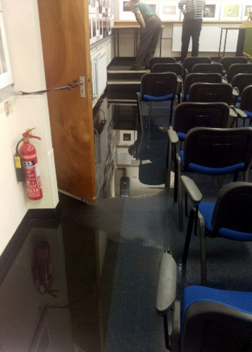 Flooded Awards Room