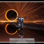 13_Norton in a wire wool explosion_Les Arnott